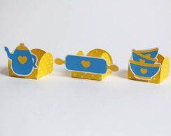 Forminha Chá de Panela Azul e Amarelo