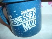 FREE SHIPPING - One Jack Daniel's Tennessee Mud Recipe Enameled Tin Cup - $10