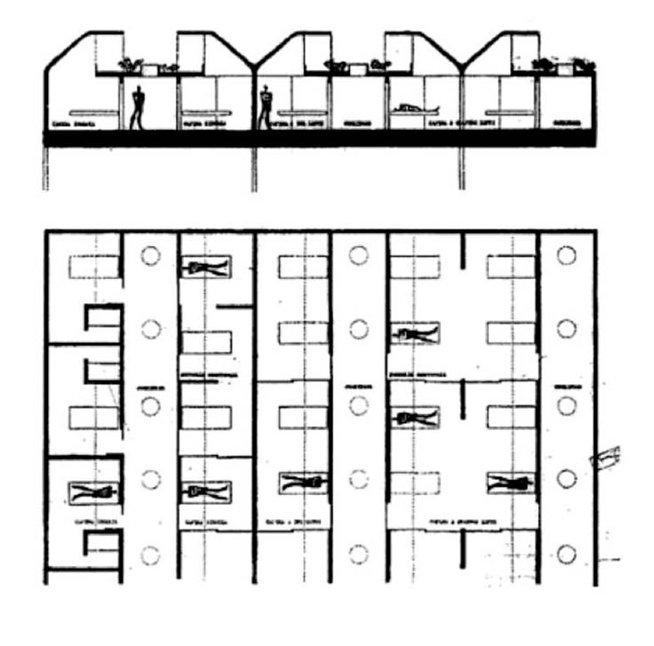 """The """"New Venice hospital"""" is an unbuilt yet renowned project by Le Corbusier. The first phase of the design took place between 1964 and 1965, the year of the architect's death, in the site of a former slaughterhouse in San Giobbe neighborhood in Cannaregio. This preliminary design was approved..."""