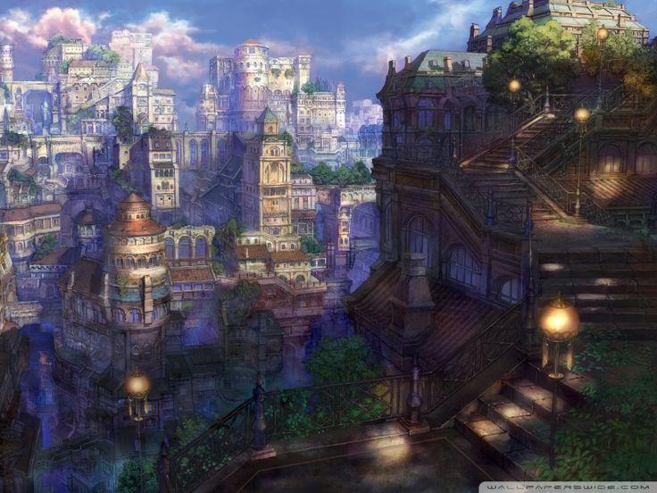 Fantasy villages fantasy village hd wallpapers n o d for Architecture fantastique