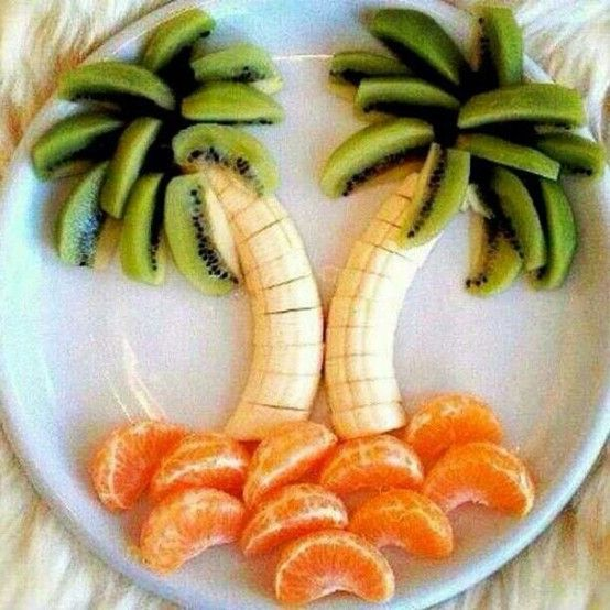 my version of edible arrangements (kiwi, banana, tangerine:)