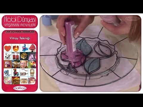 Cam Boyama Teknikleri - Vitray Tekniği - YouTube