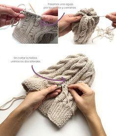 Gorro de lana de ochos con pompón - Creativa Atelier