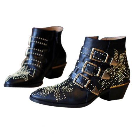 Black Suzanna Boots   CHLOÉ   Size 39,5 FR  Vestiaire Collective