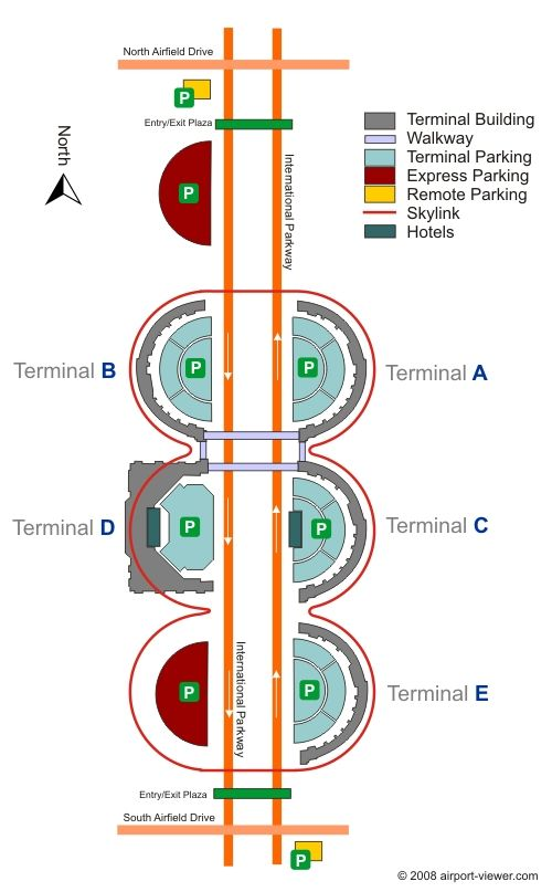 Dallas Fort Worth Airport Terminal Map on