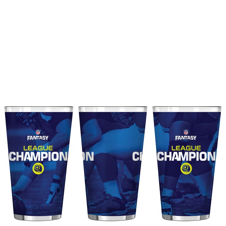 Boelter Brands NFL Fantasy Football League Champion Satin Etch Pint Glass at The Paper Store