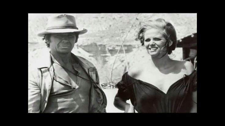 """Charles Bronson+ Claudia Cardinale  sur le tournage de """"Il était une fois dans l' Ouest"""""""