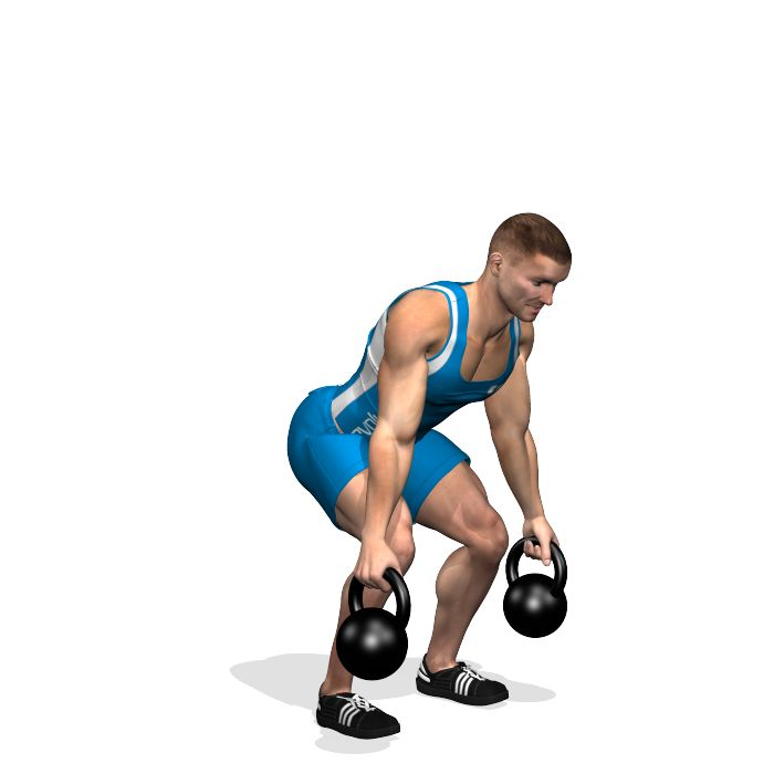 DEADLIFT 2 KETTLEBELL INVOLVED MUSCLES DURING THE TRAINING LATS