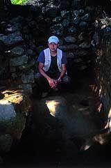 Daisuke Takahashi at Alexander Selkirk's campsite on Robinson Crusoe Island
