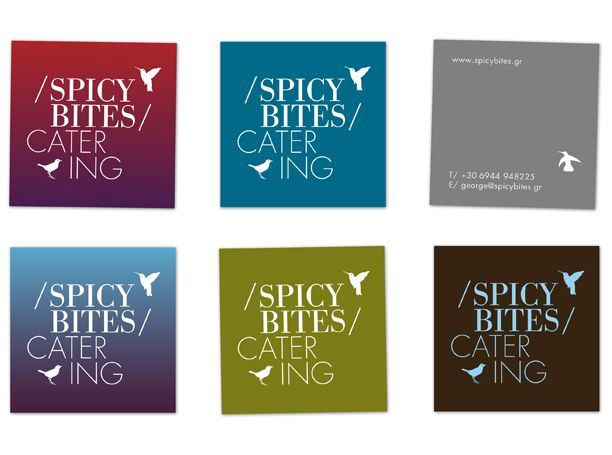 Business cards for Spicy Bites Catering by Radial