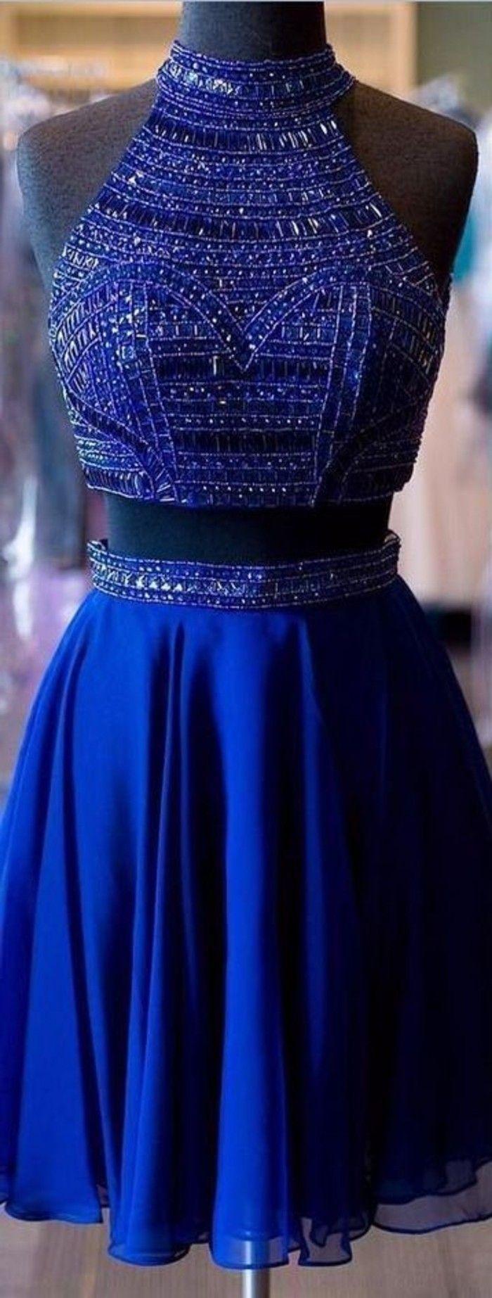 vestidos-de-noche-azul-corto-dos-partes-lentejuelas