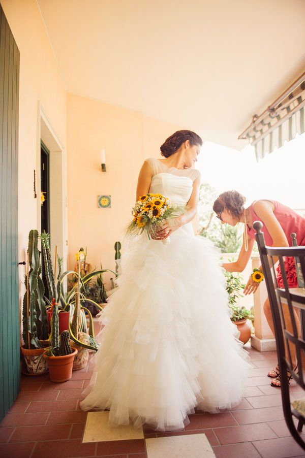 Matrimonio Country Chic Girasoli : Matrimonio country chic con girasoli e limoni bouquet wedding