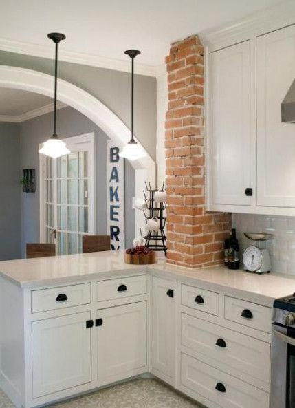 46+ Ideas farmhouse kitchen design joanna gaines brick cottage