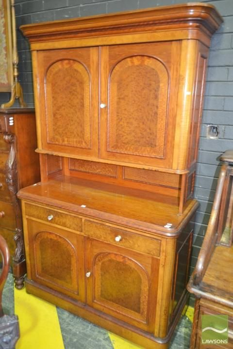 Unusual late 19th century australian specimen cabinet comprising blackwood huon pine silky oak