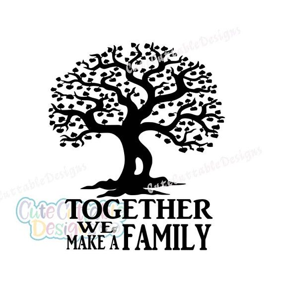 Family Tree SVG, Wedding SVG Together we make a family