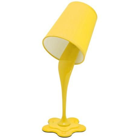 So fun for a dorm room, and a great pop of color! Woopsy Yellow Desk Lamp from Lamps Plus.