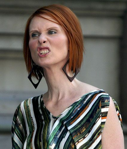 13 Celebrity Funny Faces Celebrity Funny Face Cynthia Nixon Jpg