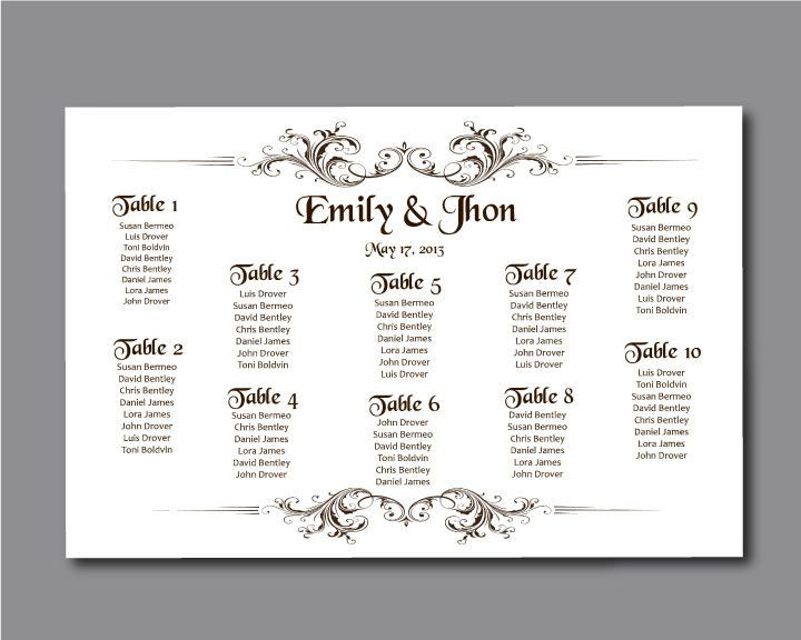 17 best Wedding seating chart ideas! ) images on Pinterest - printable seating charts