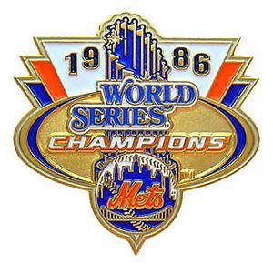 1986 World Series | 1986 New York Mets World Series Champions Trophy Pin