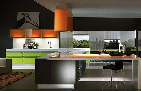 Orange And Lime Green Kitchen : ... kitchen on Pinterest  Design, Green kitchen and Lime green kitchen