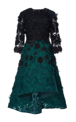 Guipure Lace Degrade Dress by COSTARELLOS for Preorder on Moda Operandi