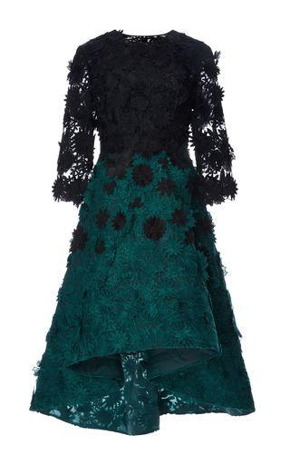 Guipure Lace Degrade Dress by COSTARELLOS for Preorder on Moda Operandi