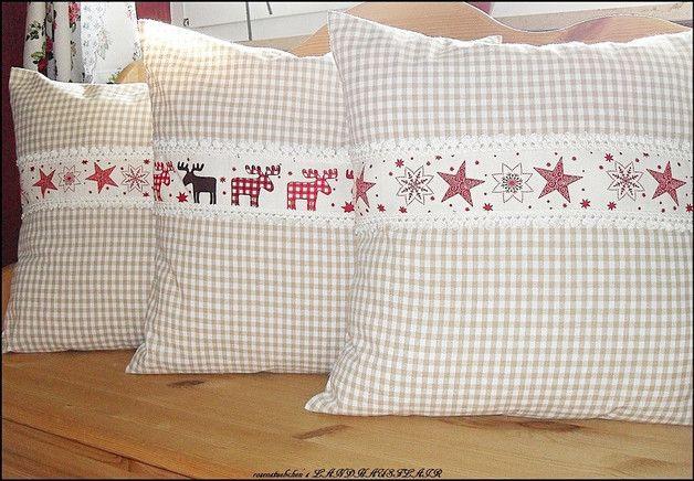 Kuschelige Weihnachtsdeko, Kissenbezüge mit Weihnachtsmotiven / christmas pillowcases with christmas motives by rosenstuebchen via DaWanda.com