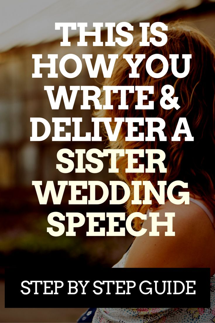 Sister of the Bride Heres How to Write a Great Speech  Annies wedding  Sister wedding