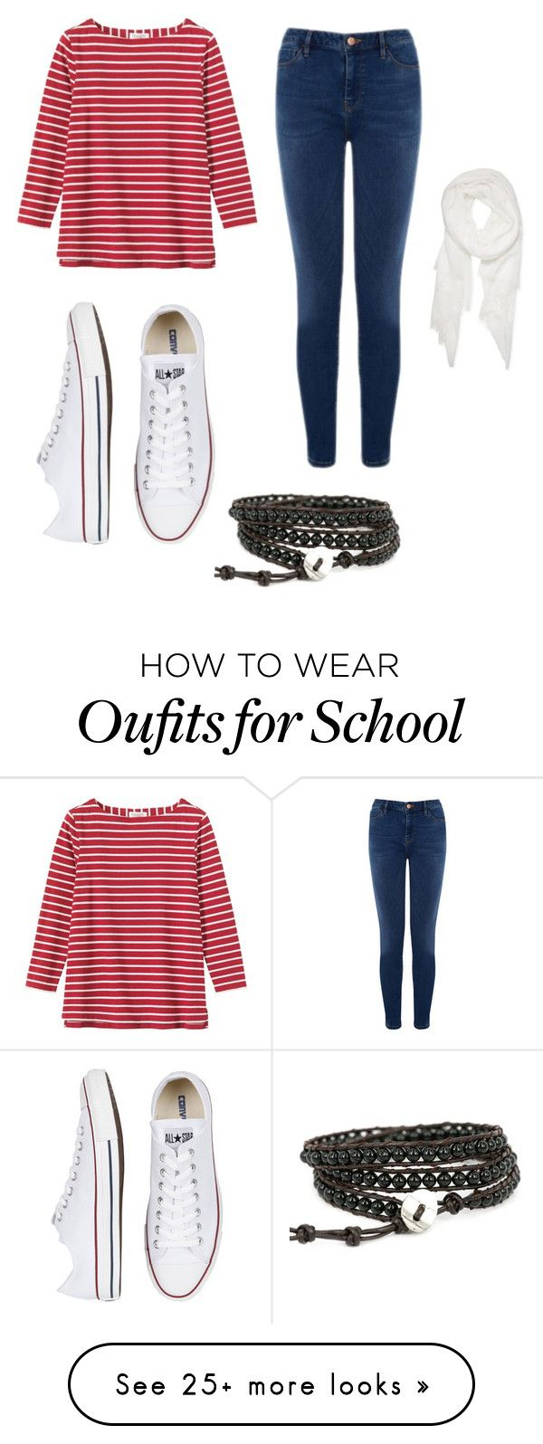 """""""middle school clothing idea"""" by emilyjones-ej on Polyvore featuring Toast, Warehouse, Converse and Calvin Klein"""
