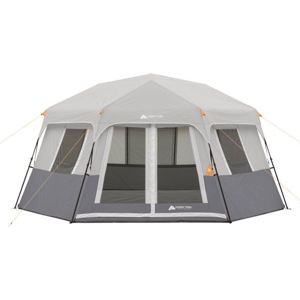 Ozark Trail 8-Person Instant Hexagon Cabin Tent - Walmart.com