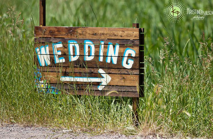 Wooden Painted Sign - Turquoise and White  Rustic Country Montana Wedding