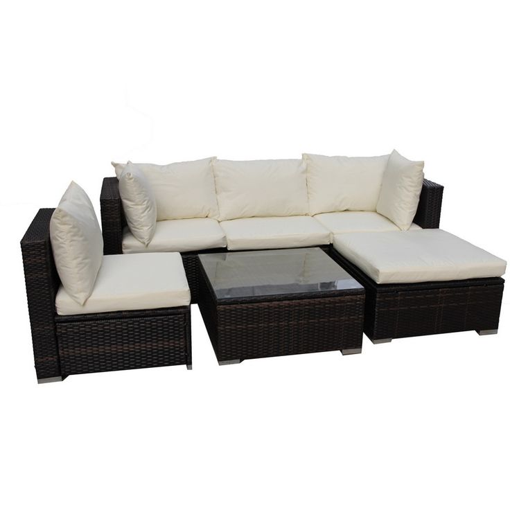 BroyerK 6 Piece Outdoor Rattan Patio Furniture Set   Overstock Shopping    Big Discounts On Sofas