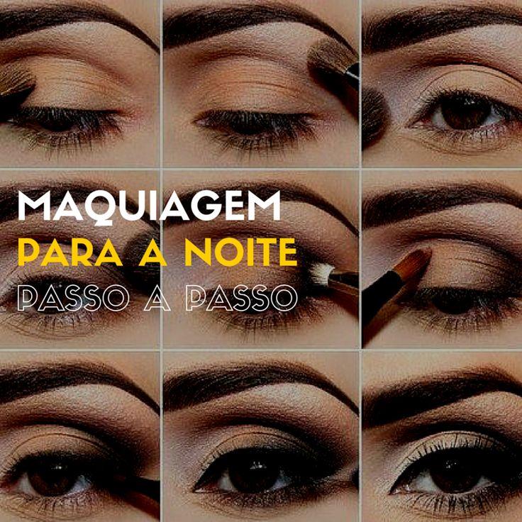 Maquiagem Para a Noite Passo a Passo - http://webfeminina.com/maquiagem-para-a-noite-passo-a-passo/