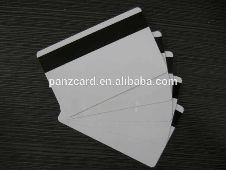 ISO CR80 standard PVC ABS PET Paper blank magnetic stripe smart card