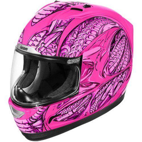 Pink motorcycle helmets