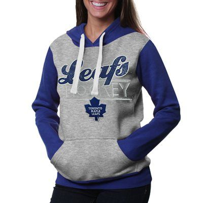 Toronto Maple Leafs Ladies Divisional Pullover Hoodie – Gray