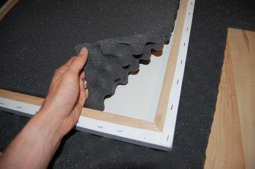 Sollte die Akustik im Raum schlecht sein, können wir auf solche kreativen Lösungen zurückgreifen.