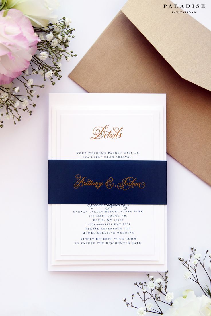 sample of wedding invitations templates%0A Brianna Midnight Blue and Gold Wedding Invitation Sets  Modern Calligraphy  Invitation Set  Wedding Invites Template or Printed Wedding Sets