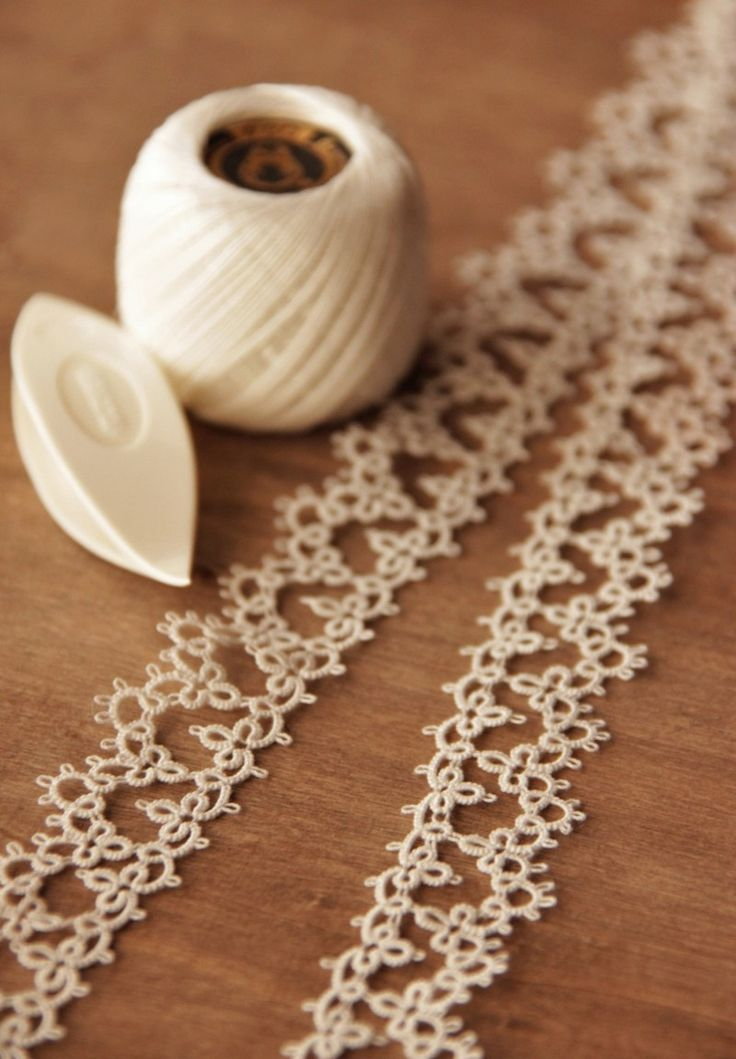 Tatting lace.                                                       …