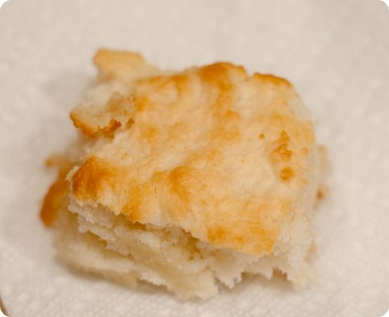 7-UP BISCUITS  2 cups Bisquick  1/2 cup sour cream  1/2 cup 7up  1/4 melted butter  Mix Bisquick, sour cream and then 7-Up with a fork; melt butter in a 9-in (or 8-in) square pan; place dough or patted, cut-out biscuits on top of melted butter; bake at 450° for 12-15 minutes.
