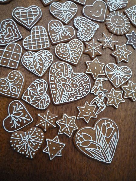 Every year I make pepparkakor, Swedish Christmas cookies. These were for my mom.