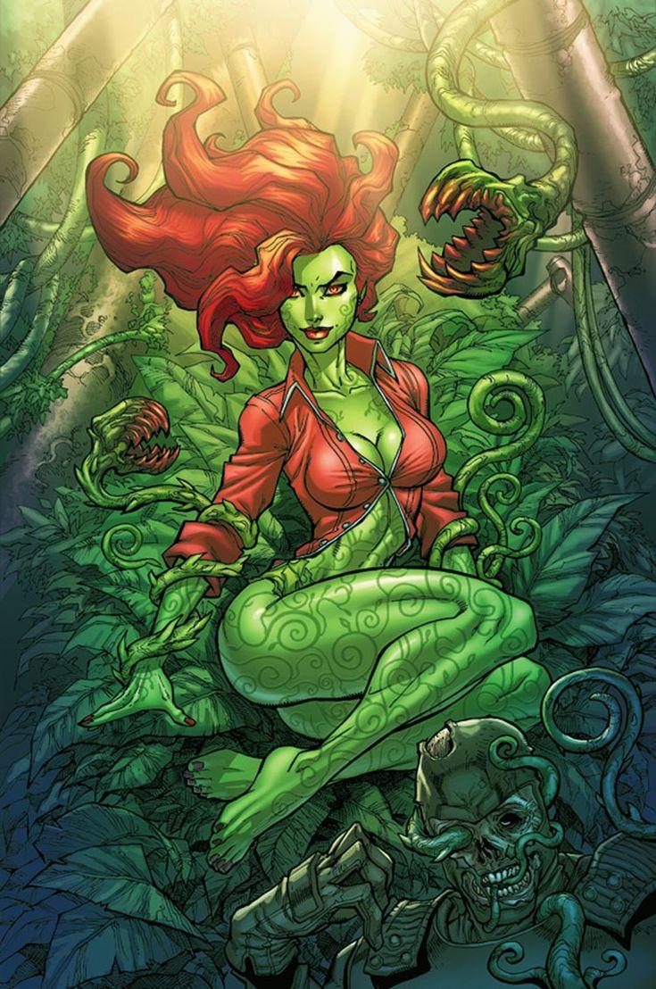 Poison Ivy Comic Art batman