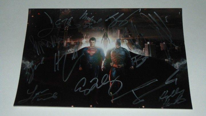 Batman VS Superman Dawn of Justice cast signed autographed photograph BenAffleck