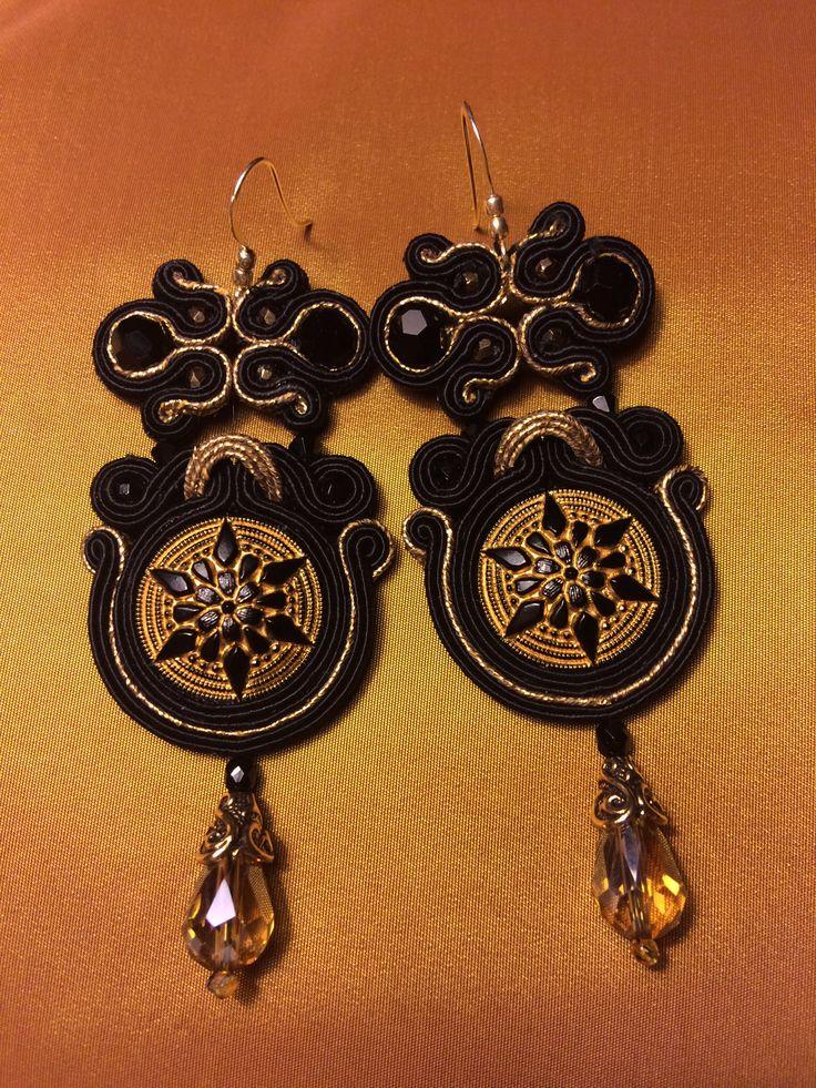 Jewel buttons earrings