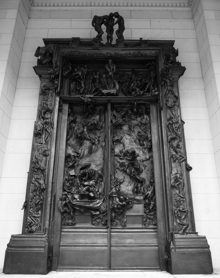 Details from the Gates of Hell by Rodin..Bronze doors originally commissioned for a new museum in Paris which never opened. Rodin worked on the 200u2026 & Details from the Gates of Hell by Rodin..Bronze doors originally ... pezcame.com