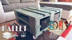 #CoffeeTable, #Diy, #Home, #PalletCoffeeTable, #PalletTable, #RecyclingWoodPallets, #Tutorial, #Video You can make a Vintage Style Pallet Coffee Table with only two pallets and a long weekend! Plus, it'll only cost you around 30 dollars! Vintage Style Pallet Coffee Table - Supplies Needed: 2 EURO pallets 4 casters safety tools (gloves
