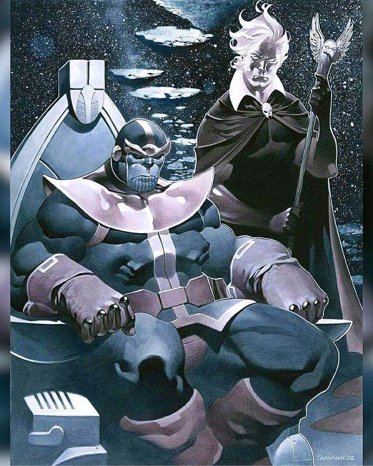 Thanos and Adam Warlock