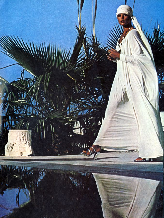 1970's chic turban and caftan