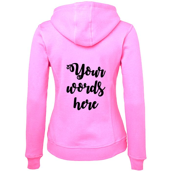 Hoodie with Custom Printed Text