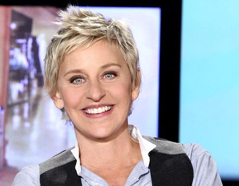 """Person I respect & makes me laugh! She's also a huge animal advocate.  """"I ask people why they have deer heads on their walls. They always say because it's such a beautiful animal. There you go. I think my mother is attractive, but I have photographs of her."""" Ellen DeGeneres"""